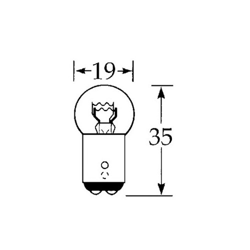 12v 21/5w Offset Bulb Pin Double Contact LLB380 (small 19mm)