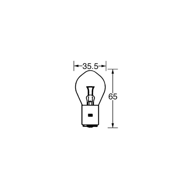 6v Bulb Double Contact Bosch/P100 35/35w LLB393 for
