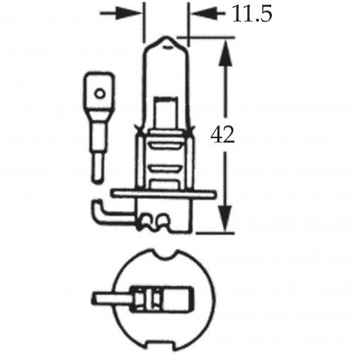 H3 Halogen Bulb 12v 130w for Off Road Use LLB489