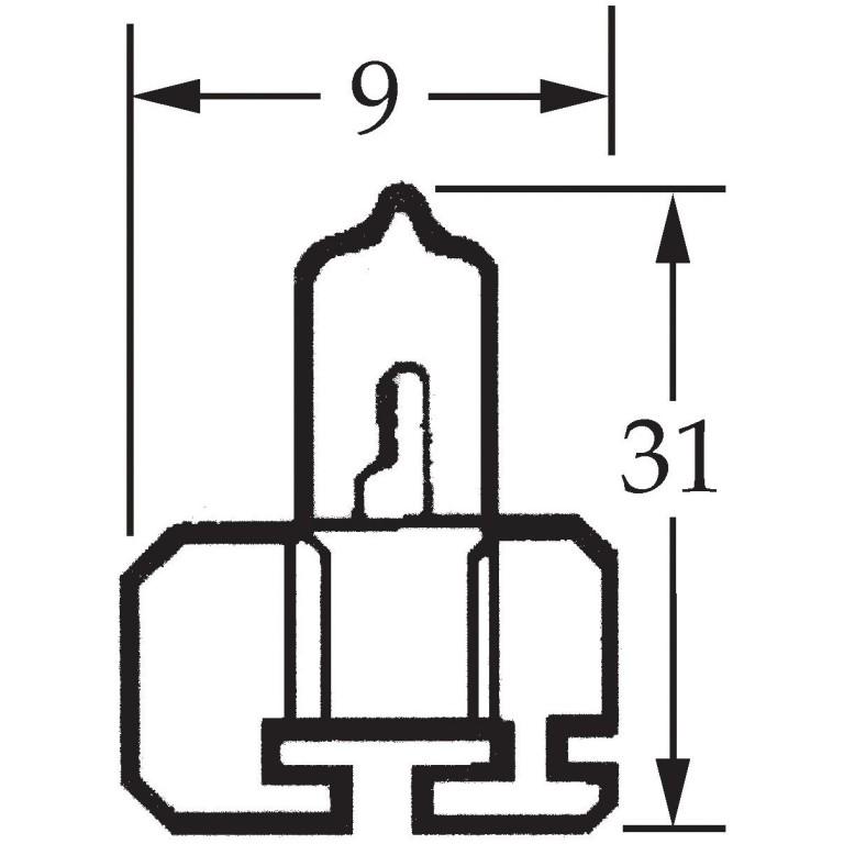 H2 Halogen Bulb 12v 55w LLB479
