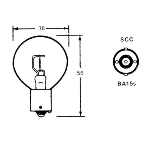 Bulb (BA15s) 6 Volt 36 Watt LLB108