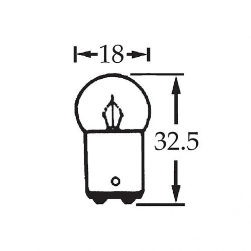 6v 10w Double Contact Bulb BA15d Cap LLB244D