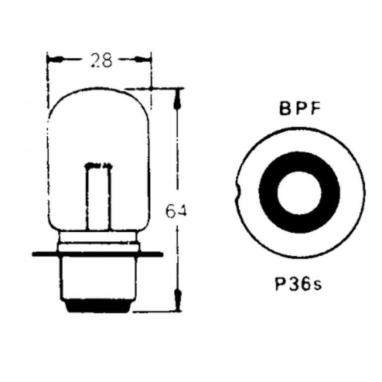 12v Bulb for BPF Foglamps 48w (Single Contact) LLB323