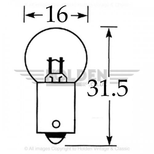 6v 5w Single Contact Bulb BA9s Cap LLB951