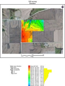 GPS map topograph tile installation plan.