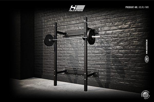 hold strong fitness elite foldable wall mount rack klappbares rack inkl j cups