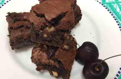 Cherry & Walnut Brownie Recipe - with Colombian Panela