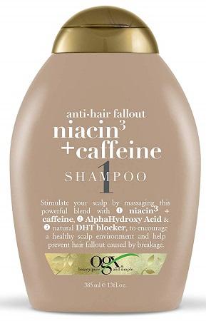 Ogx Shampoo Niacin 3 & Caffeine | Hold the Hairline