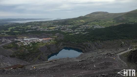 View from the top of the Big Zipper at Zipworld Velocity