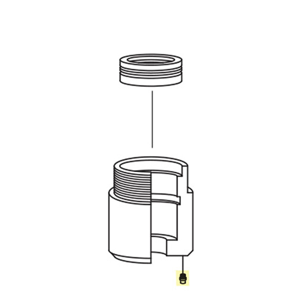 small resolution of grease fitting for universal water swivel assembly
