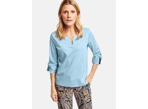 3/4 Arm Bluse mit Knotendetail Blau Damen
