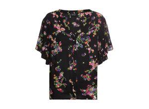 Bedruckte Bluse kurzer Arm in schwarz für Damen von bonprix