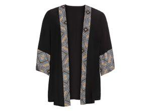 Bedruckter Kimono-Blazer 3/4 Arm in schwarz für Damen von bonprix