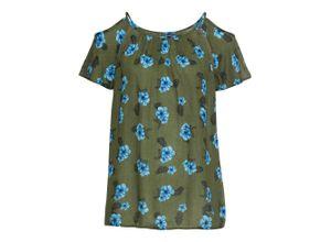 Bluse kurzer Arm in grün (Rundhals) für Damen von bonprix