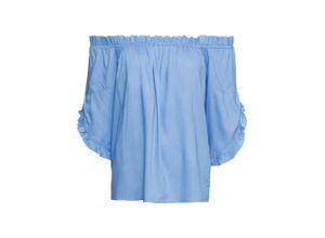 Carmen-Bluse in blau für Damen von bonprix
