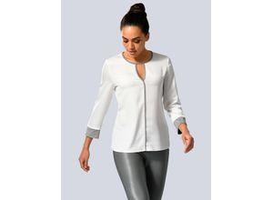 Damen Bluse Alba Moda Off-white