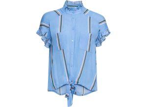 Gestreifte Bluse kurzer Arm in blau für Damen von bonprix