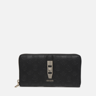 Guess - PEONY CLASSIC CHEQUE ORGANIZER - Portemonnaies & Clutches / schwarz