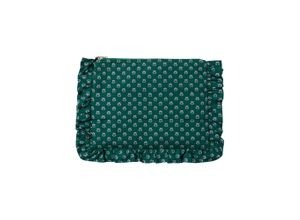 IVY & OAK Ruffle Clutch smaragd / mischfarben