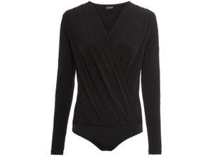 Jersey-Body langarm in schwarz für Damen von bonprix