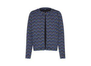 MORE & MORE Blazer 'Jacquard Jacket' rauchblau / mischfarben