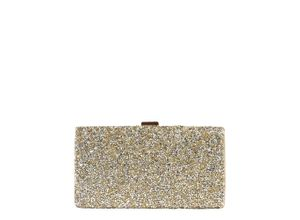 Mascara Clutch mit Glitter gold