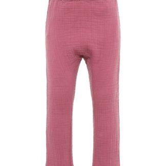 NAME IT Baumwollkrepp Hose Damen Pink