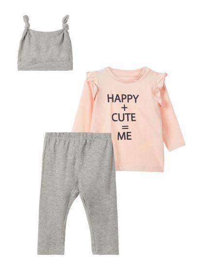 NAME IT Top Und Hose Geschenk-set Damen Pink