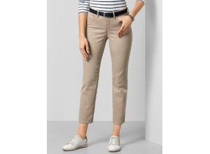 NYDJ Damen Jeans Hose Slim Fit Beige einfarbig atmungsaktiv elastisch mit flexiblem Bund