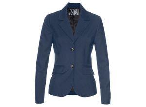 Premium Blazer mit Wollanteil langarm in blau für Damen von bonprix