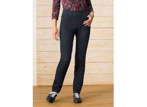 Raphaela by Brax Damen Dynamic Jeans Slim Fit einfarbig Darkblue