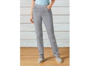 Raphaela by Brax Damen Dynamic Jeans Slim Fit einfarbig Silbergrau