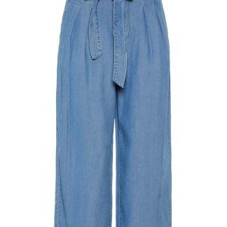 VERO MODA High Waist Culotte Hose Damen Blau