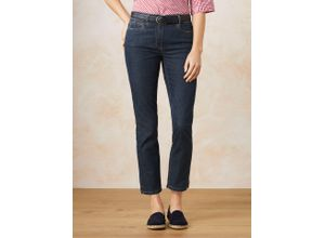 Walbusch Damen 7/8 Yoga Jeans Supersoft Regular Fit einfarbig Blue Stoned