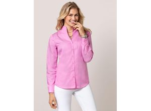 Walbusch Damen Bügelfrei-Bluse Kelchkragen in normalen Größen einfarbig Softpink