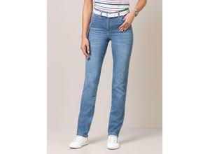 Walbusch Damen Jeans Bestform Regular Fit einfarbig Medium blue