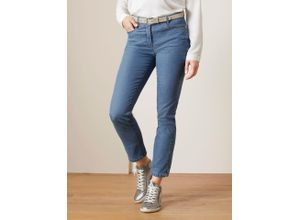 Walbusch Damen Jeans-Hose Regular Fit Hellblau einfarbig elastisch mit flexiblem Bund