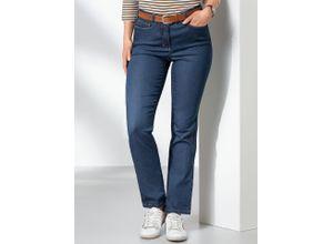 Walbusch Damen Passform Jeans Regular Fit Regular Fit einfarbig Blue Stoned
