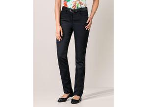 Walbusch Damen Powerblack Jeans Slim Fit einfarbig Black