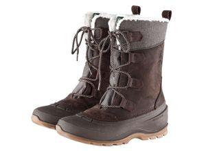 Kamik Damen Boots Snowgem braun, Gr. 37