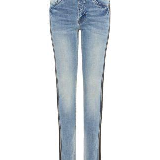 NAME IT Seitenstreifen Super Stretch Skinny Fit Jeans Herren Blau