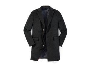 Walbusch Herren Ausstatter Mantel in normalen Größen einfarbig Anthrazit