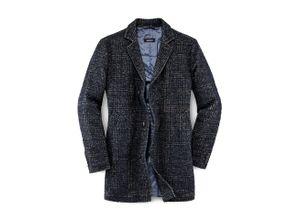 Walbusch Herren Coat Blau einfarbig