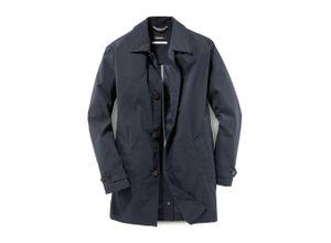 Walbusch Herren Limonta-Mantel in normalen Größen einfarbig Nachtblau