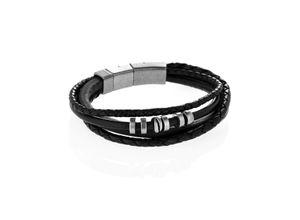 Armband Vintage Casual aus Leder & Edelstahl, JF85299040, EAN: 4048803931066