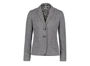 Betty Barclay Businessblazer mit aufgesetzten Taschen schwarz/grau, Gr. 36 - Damen Blazer