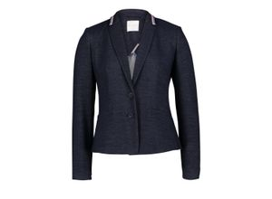 Betty & Co Blazer-Jacke mit Applikation navy blue, Gr. 44 - Damen Blazer