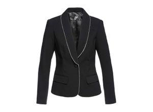 Blazer mit Strasskante langarm in schwarz für Damen von bonprix