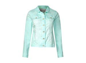 Cecil Color Denim Jacke Lejla grün, Gr. XL - Damen Blazer