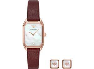 EMPORIO ARMANI Damenuhr Emporio Armani Damen-Uhren-Sets, rot, EAN: 4013496605914
